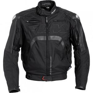 FLM Sports Leder-/Textiljacke 3.0 schwarz Herren Größe S