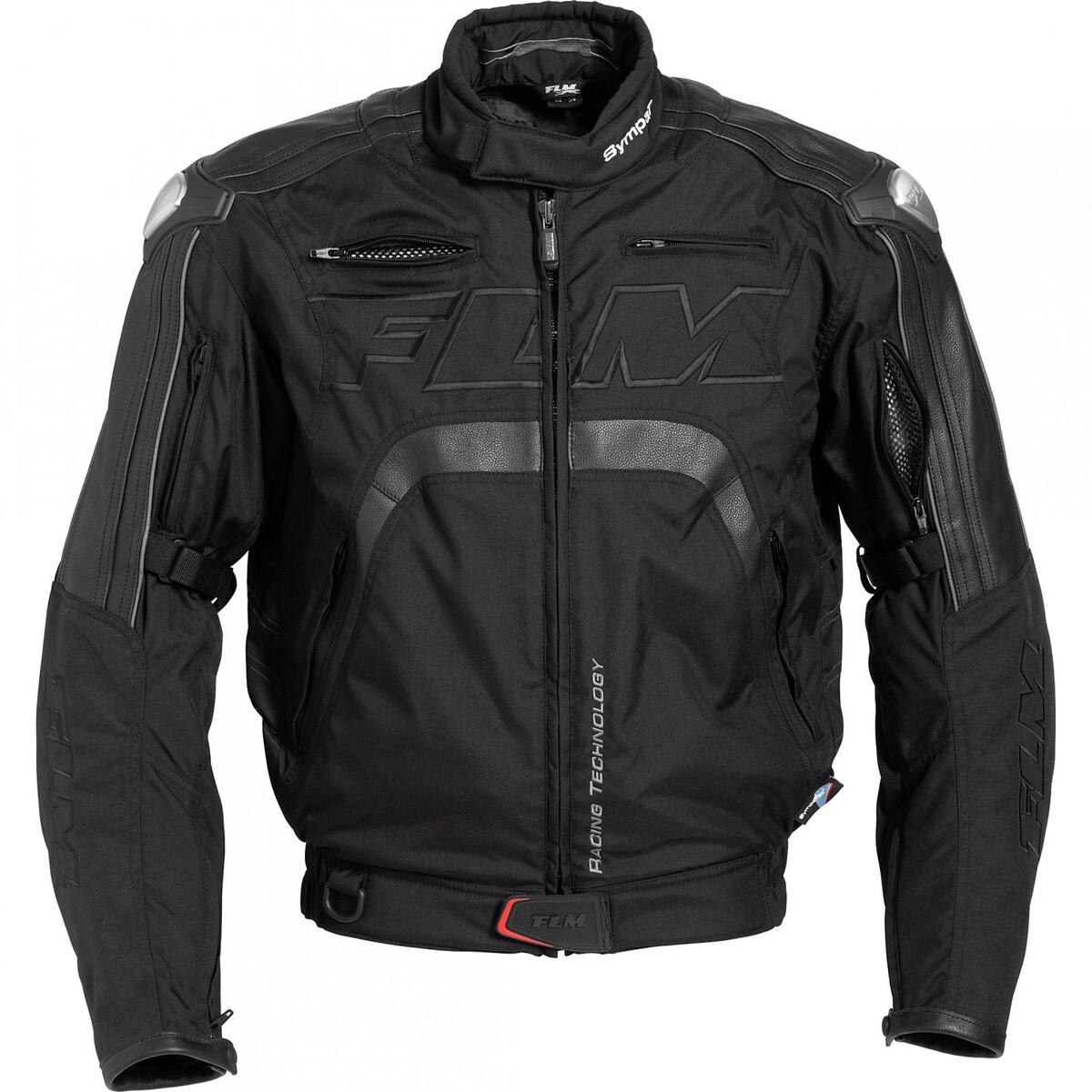 Bild 1 von FLM Sports Leder-/Textiljacke 3.0 schwarz Herren Größe S