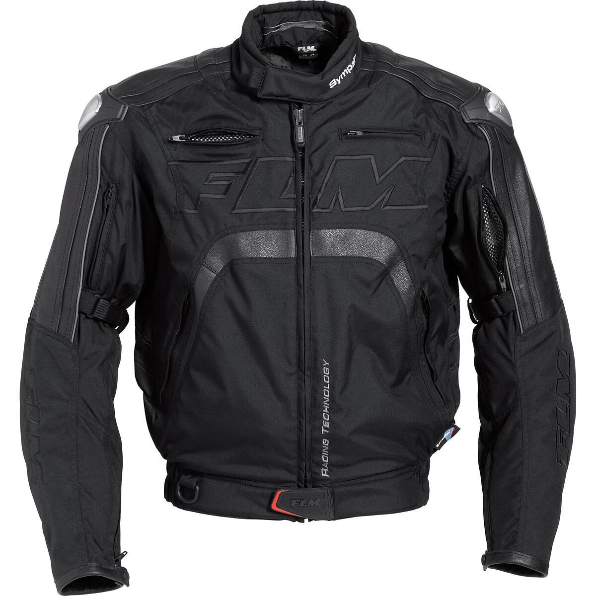 Bild 2 von FLM Sports Leder-/Textiljacke 3.0 schwarz Herren Größe S