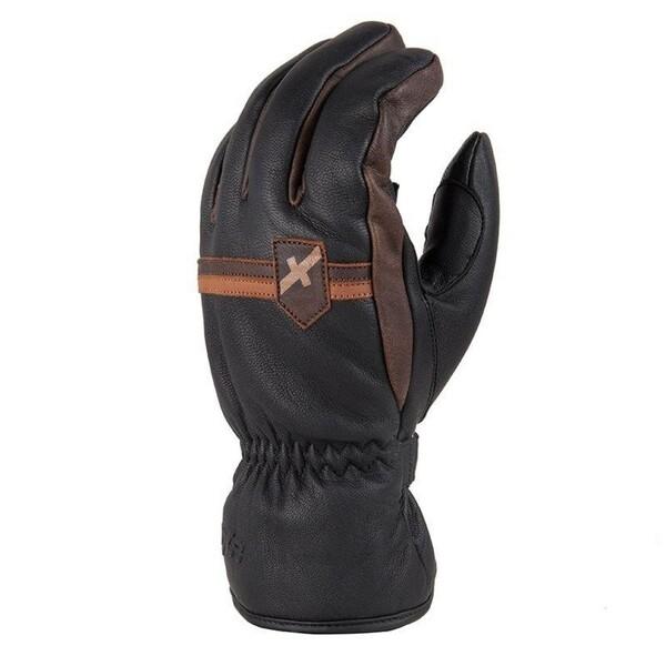 DXR            Stripe Winterhandschuh schwarz/braun