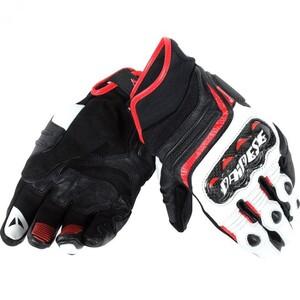 Dainese Carbon D1 Lederhandschuh kurz weiß Herren Größe S