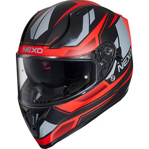 Nexo            Integralhelm Sport II Rot Dekor #20