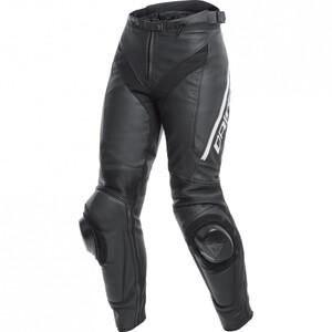 Dainese            Delta 3 Damen Lederhose schwarz/schwarz/weiß