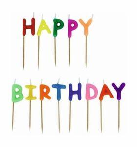 13 Geburtstagskerzen - Happy Birthday