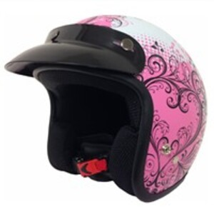 Nikko Jethelm Ramona, pink gemustert, Größe S