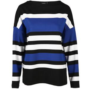 Damen Sweatshirt mit Blockstreifen
