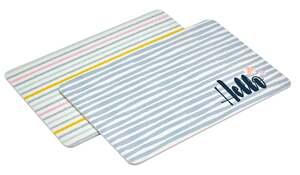 IDEENWELT 2er Set Frühstücksbretter Streifen/Stripes