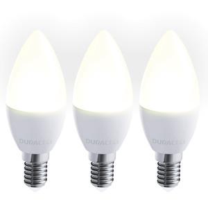 Duracell LED-Leuchtmittel, Kerze, 3W, E14, warmweiß - 3er Pack