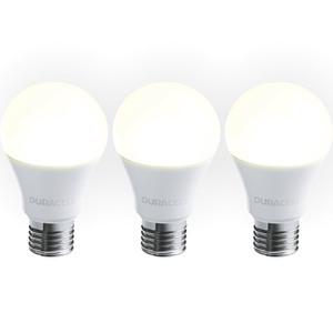 Duracell LED-Leuchtmittel, Birne, 6 W, E27, A-Shape - 3er Set