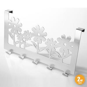 Toptex Ordnung Türhakenleiste Flower 2er-Set
