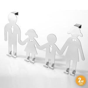 """Toptex Ordnung Türhakenleiste """"Family"""", 2er-Set"""