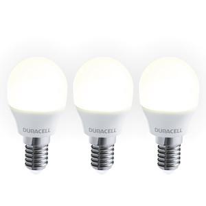 Duracell LED-Leuchtmittel, Mini Globe, 3W, E14, warmweiß - 3er Pack