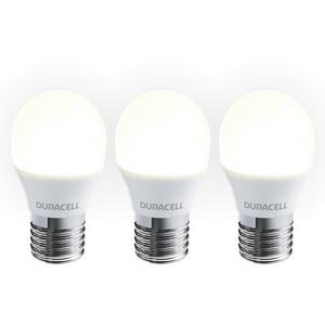 Duracell LED-Leuchtmittel, Mini Globe, 3W, E27, warmweiß - 3er Pack
