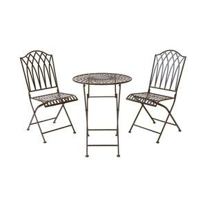 Bistro-Set Tisch und 2 Stühle