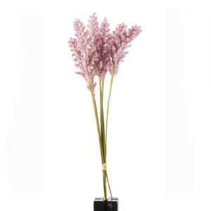 Kunstblume Rispenhirse in Pastelllila
