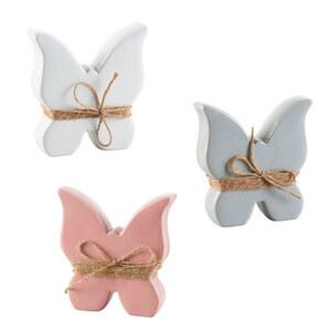 Standdeko Schmetterling groß 13,5 x 3,5 x 15,5 cm in verschiedenen Farben