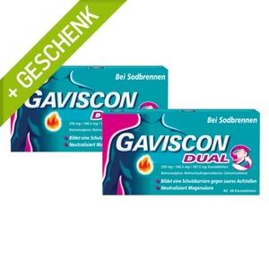 Gaviscon KT 250/106,5/187,5mg Doppelpack 1 St