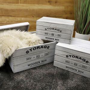 Deko-Holzkisten Storage 3er-Set