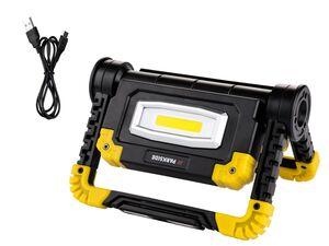 PARKSIDE® Baustrahler, LED, 10 Watt, klappbar, mit 2 Strahlern, 3 Leuchtmodi