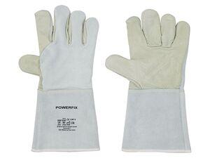 POWERFIX® Schweißerhandschuhe, mit langen Stulpen, hitzefest, aus Leder