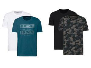 LIVERGY® T-Shirts Herren, 2 Stück, aus Baumwolle