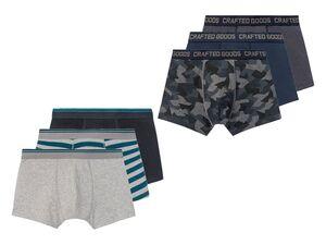 LIVERGY® Boxershorts Herren, 3 Stück, mit elastischem Bund, mit Baumwolle, mit Elasthan