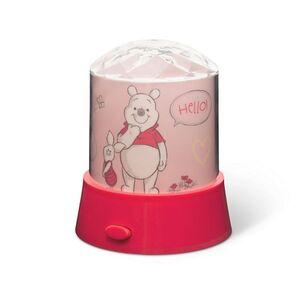 Disney Kinder Lichter - Tischlampe mit Stern-Projektor, Winnie the Pooh - rosa