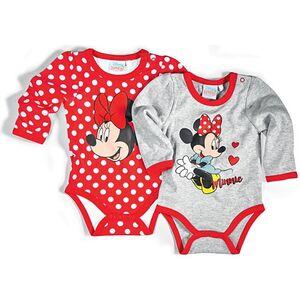 Disney Baby Body langarm, 2er Pack - für Mädchen - Minnie Mouse, Gr. 74/80