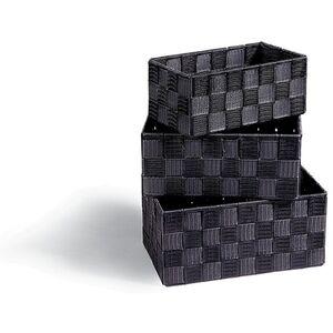 Dekor Aufbewahrungskörbe, 3er Set in verschiedenen Farben - schwarz