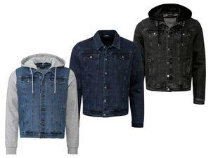 LIVERGY® Jeansjacke Herren, mit 2 Eingrifftaschen, Brusttaschen, Kentkragen, mit Baumwolle