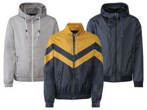 LIVERGY® Jacke Herren, mit Reißverschluss, Eingrifftaschen, wasser- und windabweisend