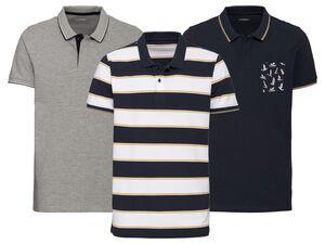 LIVERGY® Poloshirt Herren, Slim Fit, in Pikee-Qualität, mit Seitenschlitz, mit Baumwolle