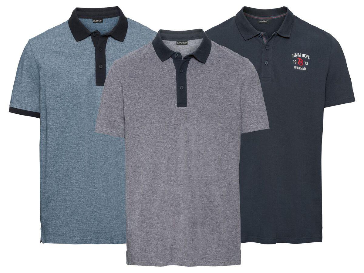 Bild 1 von LIVERGY® Poloshirt Herren, Slim Fit, in Pikee-Qualität, mit Seitenschlitz, aus Baumwolle