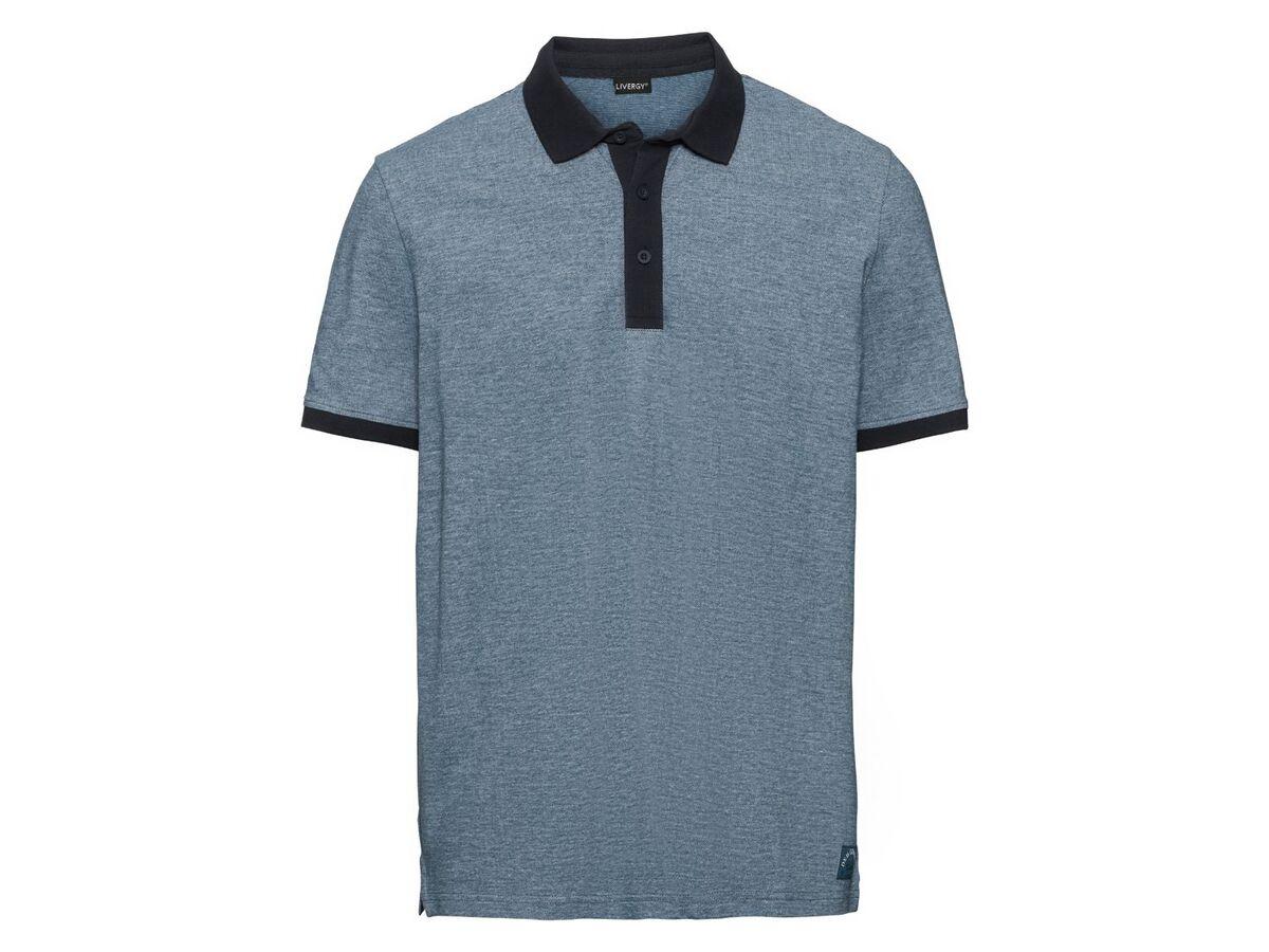 Bild 2 von LIVERGY® Poloshirt Herren, Slim Fit, in Pikee-Qualität, mit Seitenschlitz, aus Baumwolle