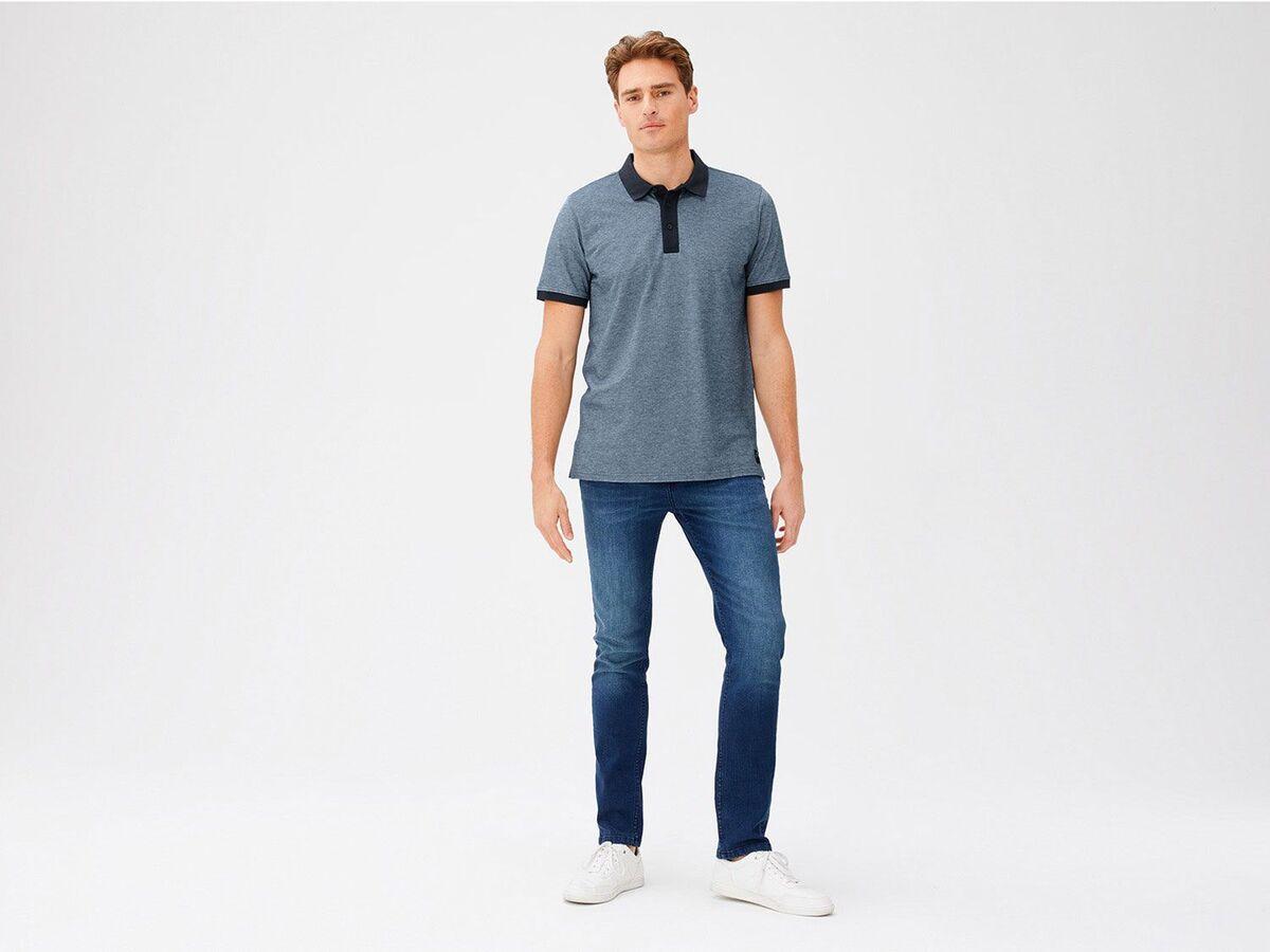Bild 3 von LIVERGY® Poloshirt Herren, Slim Fit, in Pikee-Qualität, mit Seitenschlitz, aus Baumwolle