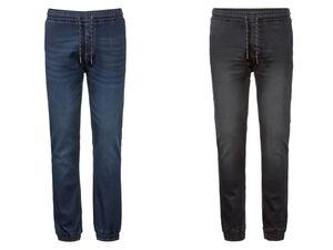LIVERGY® Jogginghose Herren, in Jeans-Optik, mit Baumwolle, mit Elasthan