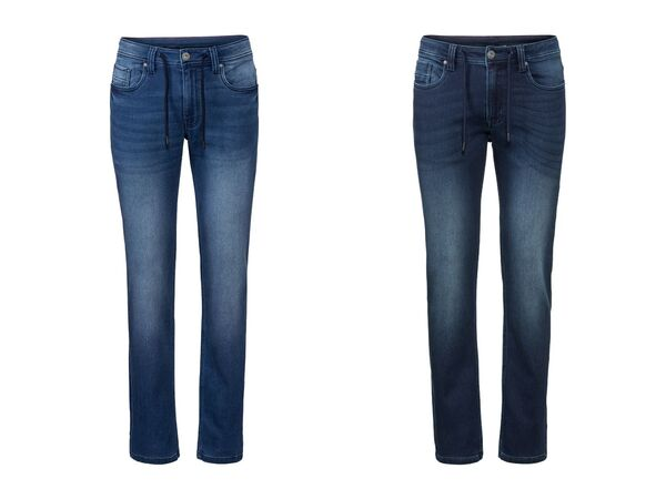 LIVERGY® Sweathose Herren, in Jeans-Optik, mit Kordelzug, mit Baumwolle