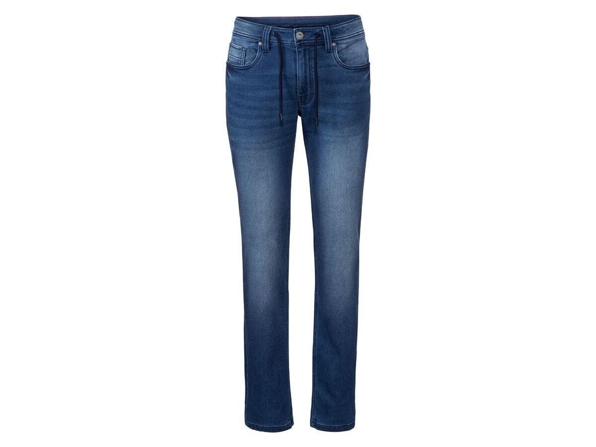 Bild 2 von LIVERGY® Sweathose Herren, in Jeans-Optik, mit Kordelzug, mit Baumwolle
