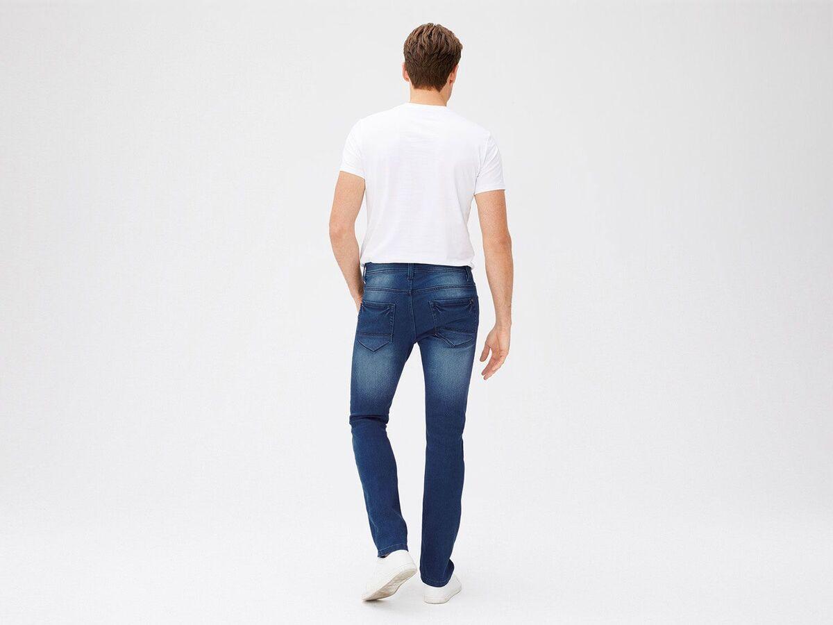 Bild 4 von LIVERGY® Sweathose Herren, in Jeans-Optik, mit Kordelzug, mit Baumwolle