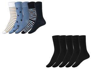 LIVERGY® Socken Herren, 5 Paar, mit Pikeebund, verstärkte Ferse, Spitze, mit Baumwolle