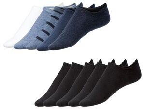 LIVERGY® Sneakersocken Herren, 5 Paar, mit Anti-Rutsch-Band, mit Baumwolle