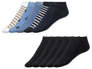 LIVERGY® Sneakersocken Herren, 5 Paar, mit verstärkter Ferse und Spitze, mit Baumwolle