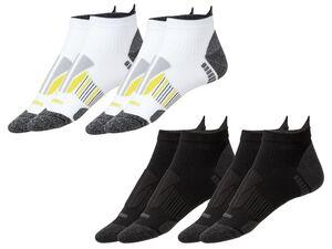 CRIVIT® Laufsocken Damen, 2 Paar, mit ergonomisch geformtem Fußbett, mit Elasthan