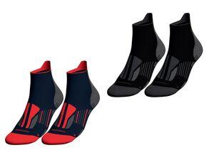 CRIVIT® Laufsocken Herren, 2 Paar,  mit ergonomisch geformtem Fußbett, mit Elasthan