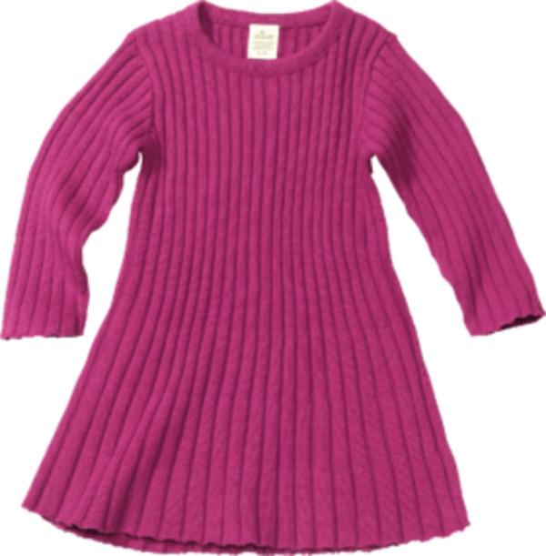 ALANA Kinder Kleid, Gr. 98, in Bio-Baumwolle, beere, pink
