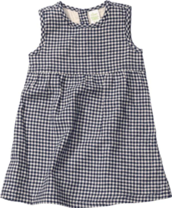 ALANA Kinder Kleid, Gr. 104, Bio-Baumwolle, blau, kariert