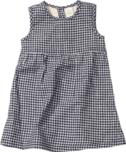 ALANA Kinder Kleid, Gr. 98, Bio-Baumwolle, blau, kariert