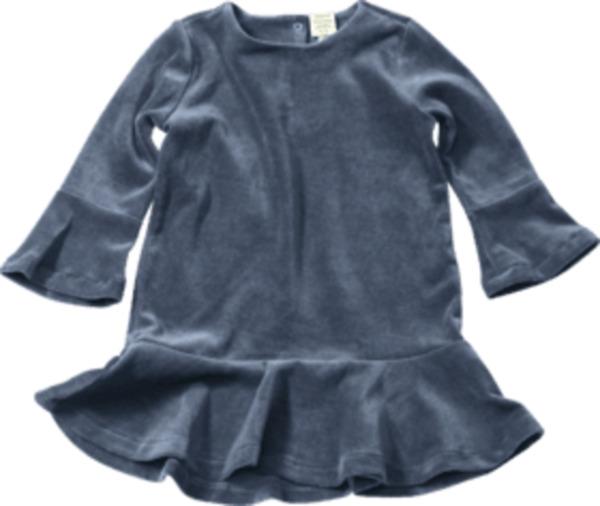 ALANA Kinder Kleid, Gr. 92, in Bio-Baumwolle, blau
