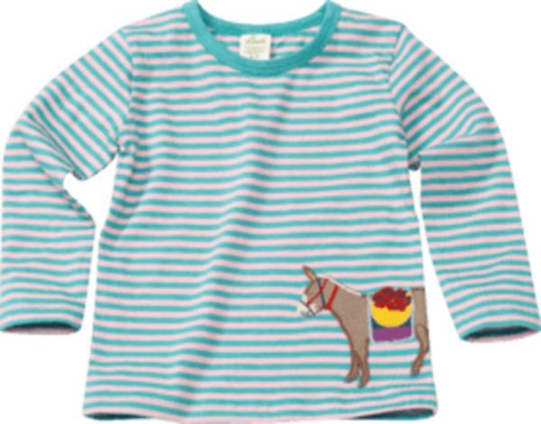 ALANA Kinder Pullover, Gr. 92, in Bio-Baumwolle, blau, rosa, Esel