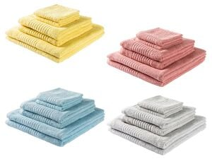 MIOMARE® Frottier-Set, 2 Handtücher, 2 Duschtücher, 2 Gästehandtücher, aus reiner Baumwolle (OSCZ/OSSK)